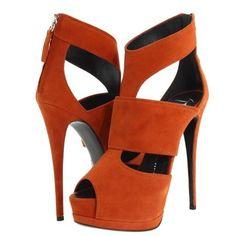 LOVE these Giuseppe Zanotti suede heels