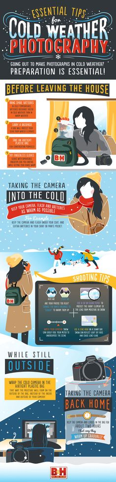 Essential Tips for Cold-Weather Photography #infographic #Photography #Winter