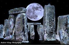 Pagan Moon Stonehenge England by mindbodyspiritshop on Etsy, £7.50
