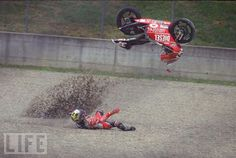 Motorcycle crashes.