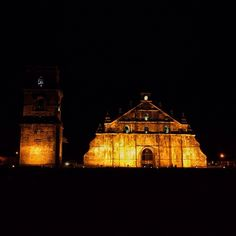 Beautiful old church located in Paoay, Ilocos Norte. It has coral stone bell tower and is part of the UNESCO World Heritage. Ilocos, Cathedral Church, Coral Stone, Instagram Feed, Big Ben, Tower, Photo And Video, Beautiful, Norte