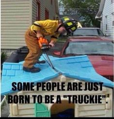 Some people are just born to be a truckie. #SDFD #sdfirerescue #firefighters