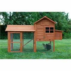 The Clubhouse is a super starter coop for up to 4 full-size chickens, or 6 bantams! (The smaller the breed, the more you can fit.) This chicken coop features an all-wood roof, dual, hardware cloth-backed ventilation slots for a nice cross-breeze, and a roomy run for your flock to stretch their wings before you let them out for the day. Read below for more details.