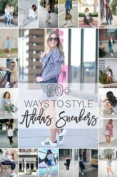 20 Ways to Wear Adidas Superstar Sneakers || How to wear sneakers with a dress, jeans, athleisure and more!