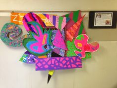 Wildcats Create!: Collaborative Canvases inspired by Frank Stella, Part 3