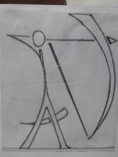 AV - mes initiales pour mon carquois (pyrogravé sur cuir au final)