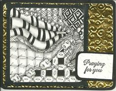 Praying zentangle by Peglar - Cards and Paper Crafts at Splitcoaststampers
