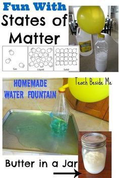 States of matter activities with solids, liquids and gases научная ярмарка, Kindergarten Science, Elementary Science, Teaching Science, Science Education, Science Activities, Physical Science, Science Classroom, Science Ideas, Physical Education