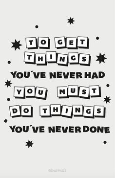 Things Never Done Poster 11x17 - Black and White / 11 x 17
