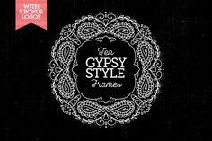 Check out 10 Gypsy-Style Frames & 5Bonus Logos by Nicky Laatz on Creative Market