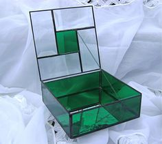 Stained Glass Box with Bevels by AGlassActStudio on Etsy, $70.00