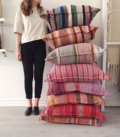 We're down to our last few handmade floor cushions! Which one is your favourite? Boho Cushions, Floor Cushions, Boho Bedroom Diy, Peruvian Textiles, Pillow Room, Diy Flooring, Handmade Pillows, Decorative Pillows, Cozy Bed