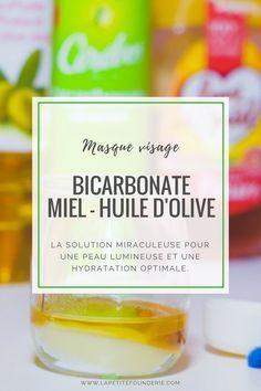 Masque visage Bicarbonate Miel et huile d'olive. La solution miraculeuse pour une peau lumineuse et une hydratation optimale. #bicarbonate #masque visage #masque #soins #beauté #diy #recette #bienetre #miel #huile d'olive #olive #lapetitefounderie