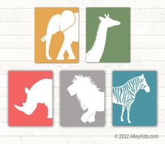 jungle safari nursery art