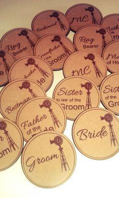 Wedding Badges #weddingbadges #lasercut #myeienessie