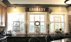 My DREAM kitchen windows! Welcome to The Parade of Homes, stop #1! | Funky Junk InteriorsFunky Junk Interiors