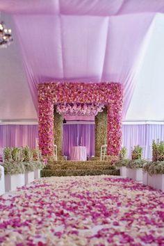 floral mandap, contemporary mandap, Styled the Aisle | Wedding Ceremony Ideas ~ Event Design: Iconic Event Studios