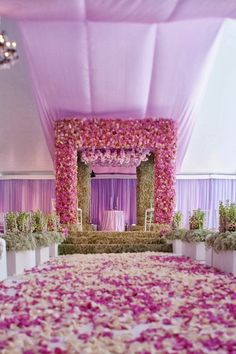 floral mandap, contemporary mandap, Styled the Aisle | Wedding Ceremony Ideas ~  Event Design: Iconic Event Studios