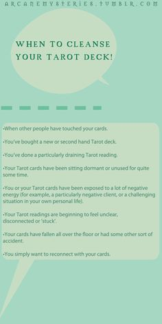 These are some tips and tricks on cleansing your tarot deck when there is too much extra energy.