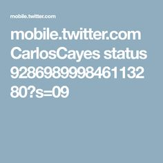 mobile.twitter.com CarlosCayes status 928698999846113280?s=09