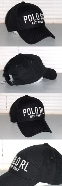 Hats 52365: Polo Ralph Lauren Men S Cotton Herringbone Hat, Rl Sport Baseball Cap, Black Nwt -> BUY IT NOW ONLY: $52.95 on eBay!
