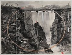 Waterfall (from the Colonial Landscape series) by William Kentridge
