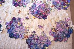 Quilt Inspiration ~> Watercolor Hexies <3                                                                                                                                                                                 More