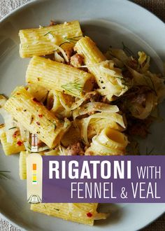 RIGATONI WITH FENNEL AND VEAL SAUSAGE | Uproot Wines & Food52 |  The softened anise flavors of the fennel and the richness of the veal sausage complement the minerality of Uproot's Sauvignon Blanc perfectly. - http://www.drinkuproot.com/blogs/recipes/18173135-rigatoni-with-fennel-and-veal-sausage