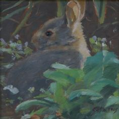 """Daily Paintworks - """"Bunny Baby"""" by Sandra L Harris"""