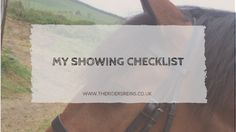 So today I decided to share my checklist I bring when showing! I have forgotten important things before a show before so I always make s...