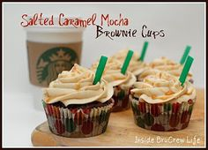 Salted Caramel Mocha Brownie Cups
