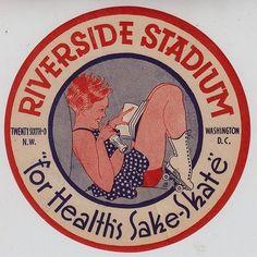 vintage skating emblem/sticker - Washington, D.C.