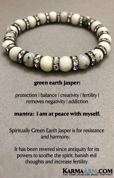 BoHo Yoga Bracelets | Meditation Jewelry | Beaded Bracelets  💎 Spiritually Green Earth Jasper is for resistance and harmony.      #WomensJewelry #Bracelets #Gifts #Meditation #Yoga #Reiki #Wisdom #MensFashion #MensBracelets #Fertility #Crystals