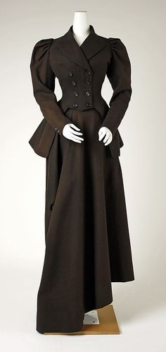 Riding Habit 1894, American, Made of wool