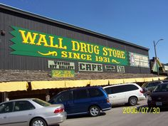 Wall Drug Store in Wall, SD is a collection of many stores under one roof. It is worth a stop. The ice cream served is delicious.