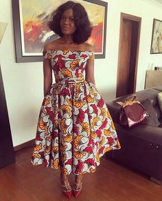 Ankara dress for women African women s clothing Ankara print dress African party dress African clothing African African Party Dresses, African Print Dresses, African Fashion Dresses, African Dress, African Prints, Ghanaian Fashion, African Fabric, Ankara Fashion, Ankara Fabric