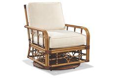 Mimi Swivel Glider Lounge Chair, Canvas