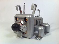 Sparky the Robot Dog metal junk art sculpture by Scottoons, via Flickr