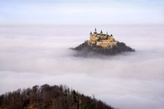 Hohenzollern Castle is situated close to Stuttgart, Germany. It seems like it's coming straight out of a fairy-tale!