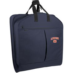 "Wally Bags Auburn Univ. Tigers 40"" Suit Length Garment Bag W/ Pockets ($42) ❤ liked on Polyvore featuring bags, luggage, blue and garment bags"