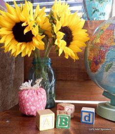 Let's Add Sprinkles: School Days! An Antique School Desk September Morn, Antique School Desk, School Desks, Decorating Blogs, Sprinkles, Back To School, Glass Vase, Mantle Ideas, Antiques