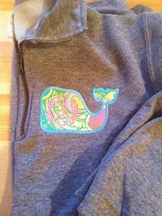 Lilly Pulitzer monogram Whale 1/4 zip by TheMonogrammingQueen. This has @Bess Pickar written all over it