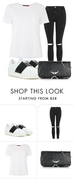 """Stylish"" by mariajensenn on Polyvore featuring Valentino, Topshop, MaxMara, Zadig & Voltaire, women's clothing, women, female, woman, misses and juniors"
