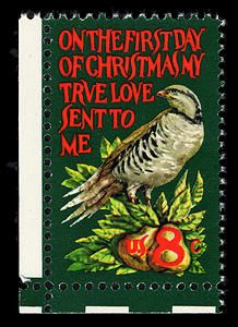 Two 8-cent Christmas stamps were issued in Washington, DC on November 10, 1971.