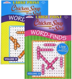 kappa large print chicken soup for the soul word finds puzzle book Case of 48