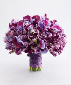 Bouquet of parrot tulips and sweet pea - love the colors, maybe a little too full