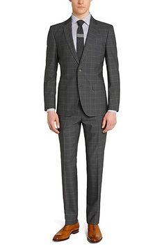'T-Harvers/Glover' | Slim Fit, Italian Virgin Wool Suit