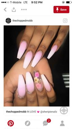In look for some nail designs and ideas for your nails? Here's our list of 21 must-try coffin acrylic nails for trendy women. Matte Nails, Acrylic Nails, Matte Pink, Coffin Nails, Acrylics, French Nails Glitter, Hair And Nails, My Nails, Nailart Glitter