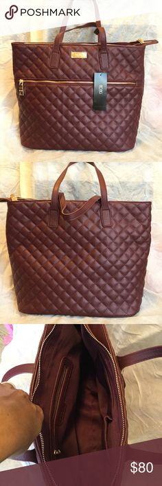 "1 HR SALE  BCBG Quilted Tote Brand new with tag. Zip closure pocket and two drop pockets. Large roomy interior. 15.5"" x 12"" x 6"". Color: Merlot. BCBG Bags Totes"