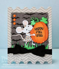 Created using the Pretty Paper, Pretty Ribbons Birthday Critters, Pumpkin Patch, and Layered Labels 3 Cutting Files